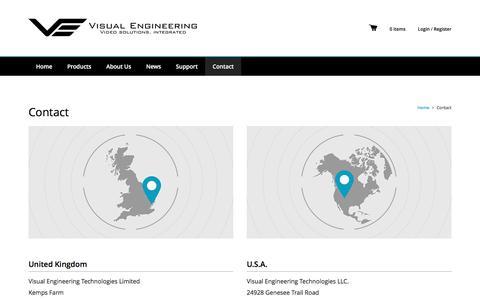 Screenshot of Contact Page visualengineering.co.uk - Contact   Visual Engineering - captured Dec. 21, 2016