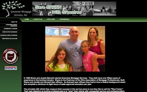 Screenshot of About Page greentreeloan.com - Greentree Mortgage Services - captured Oct. 6, 2014