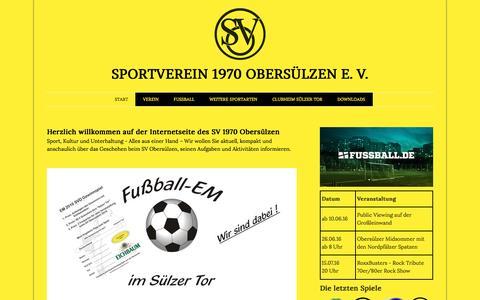 Screenshot of Home Page sv-obersuelzen.de - START - SV 1970 Obersülzen - captured June 8, 2016