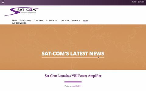 Screenshot of Press Page sat.com.na - News | Sat-Com Communications Systems - captured Oct. 2, 2018