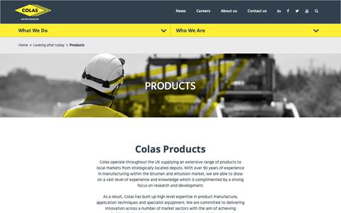 Screenshot of Products Page colas.co.uk - Products | Colas UK - captured Sept. 28, 2018
