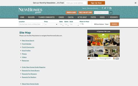 Search For New Homes Using Our Site Map - New Homes Guide