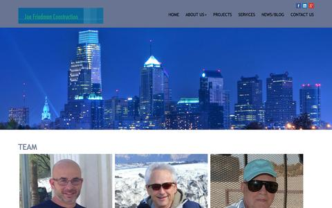 Screenshot of Team Page jfccorp.com - Team | Joe Friedman Construction - captured Feb. 11, 2016