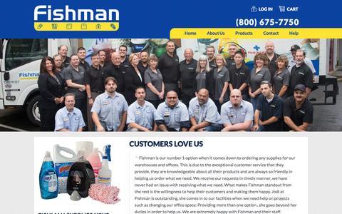 Screenshot of Testimonials Page fishmansupply.com - Customers Love Us | Fishman Supply - captured Nov. 25, 2016