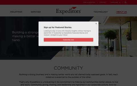 Community - Expeditors