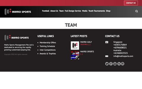 Screenshot of Team Page mafrosports.com - Team « Mafro Sports - captured Oct. 2, 2018