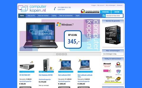 Screenshot of Home Page Site Map Page Support Page Login Page computerkopen.nl - Computerkopen.nl Goedkope Apple en Windows computers bij Computerkopen.nl met de service en garantie van nieuw. - captured Sept. 30, 2014