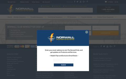 Screenshot of Site Map Page norwall.com - Norwall PowerSystems Sitemap - captured Sept. 22, 2018