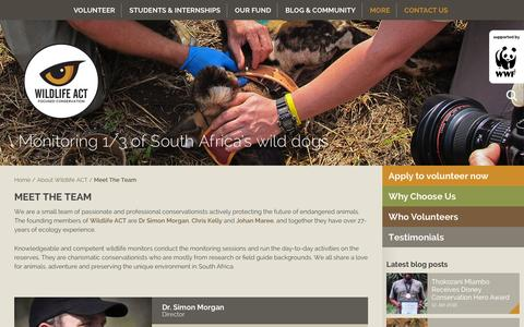 Screenshot of Team Page wildlifeact.com - Meet the team - Wildlife ACT - captured Jan. 12, 2016