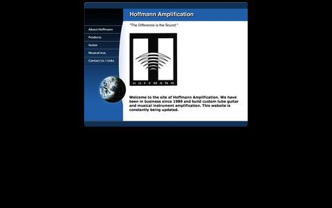 Screenshot of Home Page hoffmannamps.com - Hoffmann Amplification - captured June 13, 2016