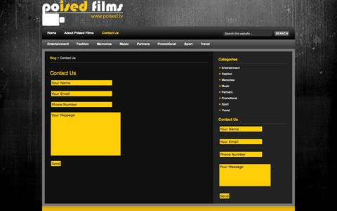 Screenshot of Contact Page poised.tv - Contact Us  | Poised Films - captured Oct. 3, 2014