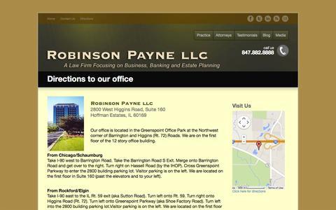 Screenshot of Maps & Directions Page robinsonpayne.com - Directions - Robinson Payne LLC - captured Oct. 27, 2014