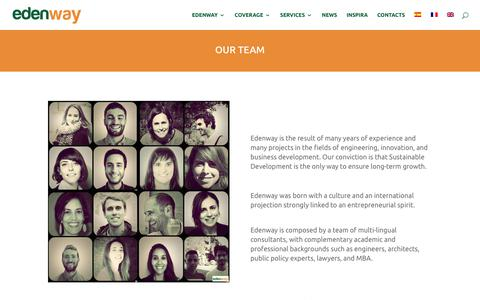 Screenshot of Team Page edenwaygroup.com - Our team   Edenway - captured Sept. 25, 2018