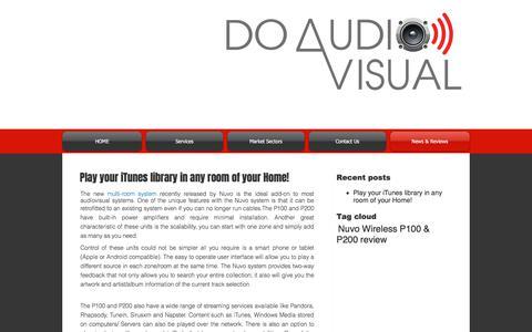 Screenshot of Press Page doav.com.au - Do Audio Visual News - captured Oct. 12, 2017