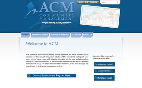 Screenshot of About Page acmweb.com - American Community Management, Inc. - ACM American Community Management Condominium townhome homeowner Downers Grove Shaumburg - captured Oct. 4, 2014