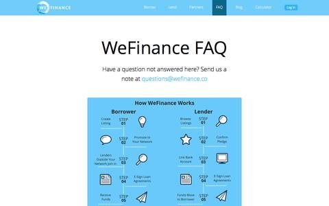 WeFinance FAQ