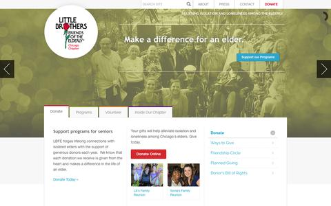 Screenshot of Home Page littlebrotherschicago.org - Little Brothers - Friends of the Elderly - captured Aug. 18, 2017