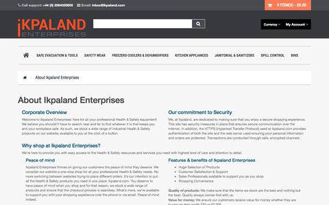 Screenshot of About Page ikpaland.com - About Us - captured Sept. 23, 2018