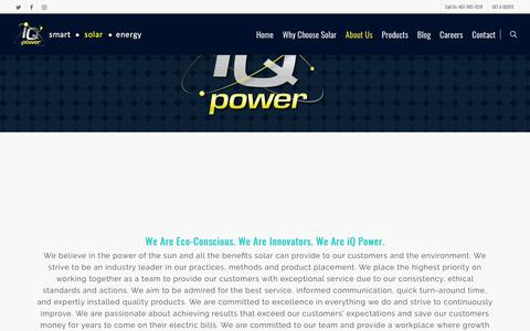 Screenshot of About Page iqpowersolar.com - About Us - iQ Power Florida Solar Energy Residental Commercial - captured Nov. 21, 2017