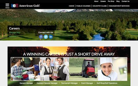 Screenshot of Jobs Page americangolf.com - Careers at American Golf - captured Sept. 23, 2014