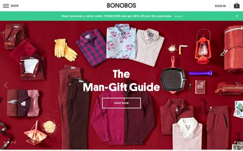 Screenshot of Home Page bonobos.com - Better-Fitting, Better-Looking Men's Clothing & Accessories | Bonobos - captured Dec. 4, 2015