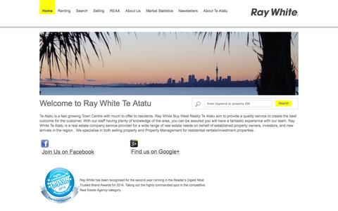 Screenshot of Home Page Site Map Page buywest.co.nz - Ray White Te Atatu - Real Estate Agency for Te Atatu & Surrounding Suburbs, West Auckland, New Zealand, NZ - captured Oct. 5, 2014