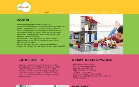 Screenshot of About Page krooom.com - krooom | About - captured Nov. 27, 2016