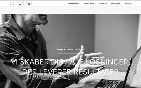Screenshot of Home Page convertic.dk - Convertic » Konverterende Websites og Webshops - captured Nov. 4, 2018