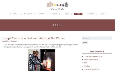 Screenshot of Blog maine-art.com - Maine Art Hill Blog - captured July 3, 2018