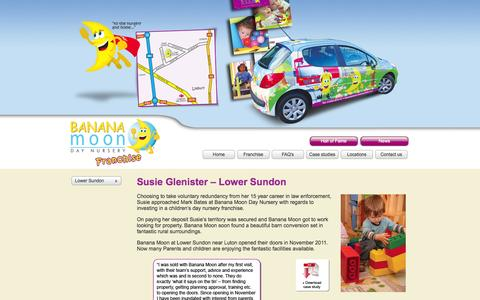 Screenshot of Case Studies Page bananamoondaynursery.co.uk - Day Nursery Franchise UK Case Studies - Lower Sundon Case - captured Oct. 5, 2014