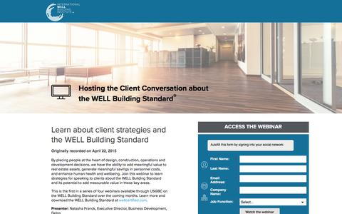 Screenshot of Landing Page usgbc.org - An Introduction to the Impact of Built Environments on Health and Wellbeing - captured Oct. 21, 2016