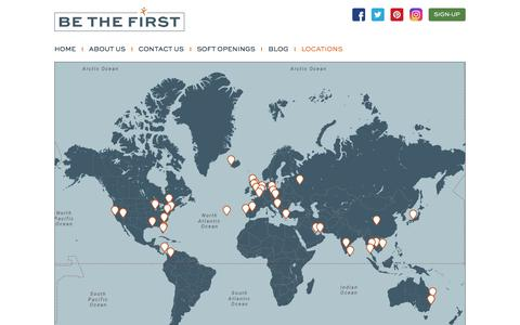Screenshot of Locations Page bethefirst.com - Locations | Be The First - captured June 1, 2017