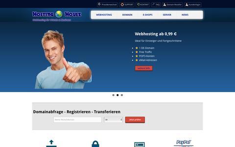 Screenshot of Home Page hosting-house.de - Hosting,Webhosting,Domain & Webspace - Hosting-House - captured June 11, 2016