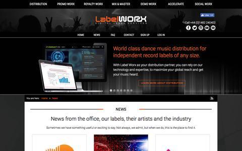 Screenshot of Press Page label-worx.com - News   Label Worx - captured Sept. 23, 2018