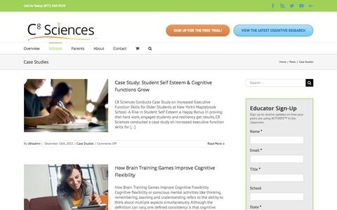 Screenshot of Case Studies Page c8sciences.com - Case Studies Archives - C8 Sciences - captured July 12, 2018