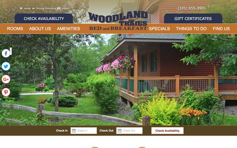 Screenshot of Contact Page Maps & Directions Page woodlandtrails.net - Accommodation in Minnesota Near Me - captured July 3, 2018