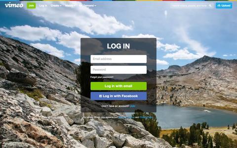 Screenshot of Login Page vimeo.com - Log in to Vimeo - captured Nov. 25, 2015