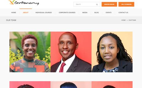 Screenshot of Team Page centonomy.com - Our Team | Centonomy - captured Sept. 27, 2018
