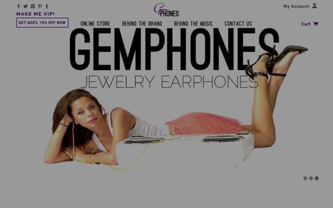 Screenshot of Home Page gemphones.com - GemPhones - captured Jan. 17, 2016