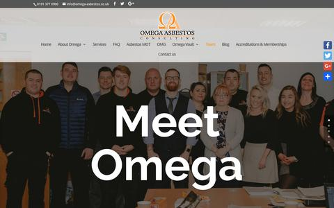 Screenshot of Team Page omega-asbestos.co.uk - Team   Omega Asbestos Consulting - captured Oct. 19, 2018