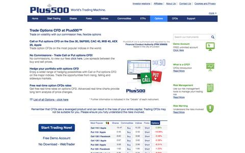 Plus500 | Options