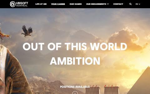 Screenshot of Jobs Page ubisoft.com - Your Career - Ubisoft Montréal - captured Nov. 8, 2019