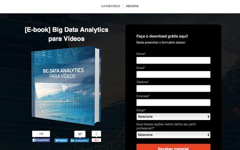 Screenshot of Landing Page sambatech.com - [E-book] Big Data Analytics para Vídeos - captured Aug. 19, 2016