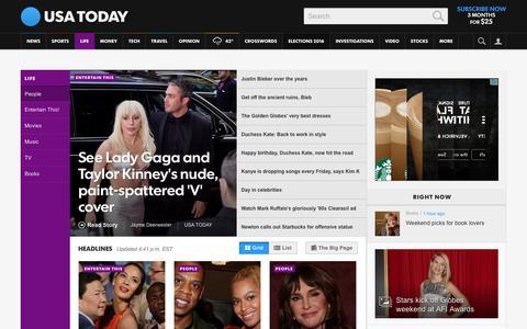 Screenshot of Team Page usatoday.com - Celebrity Photos, Videos and Interviews - USATODAY.com - captured Jan. 9, 2016
