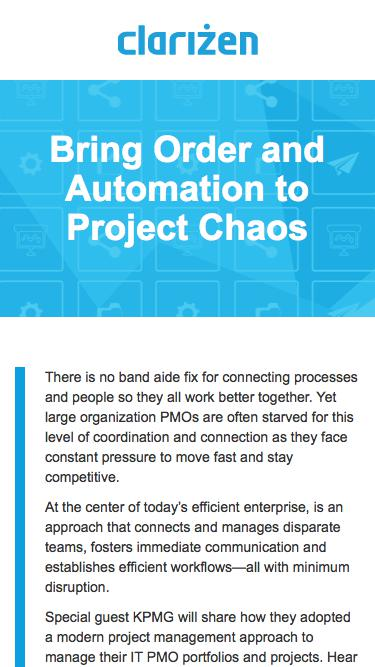 Bring Order and Automation to Project Chaos