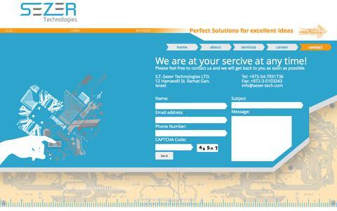 Screenshot of Contact Page sezer-tech.com - Contact | Sezer Tech - captured Oct. 7, 2014