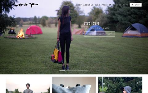 Screenshot of Home Page moopshop.com - Handmade canvas and waxed canvas bags for men and women. - captured Sept. 18, 2014