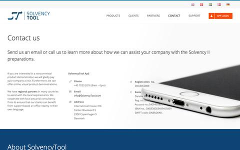 Screenshot of Contact Page solvencytool.com - Contact - SolvencyTool (EN) - SolvencyTool - captured Aug. 18, 2019