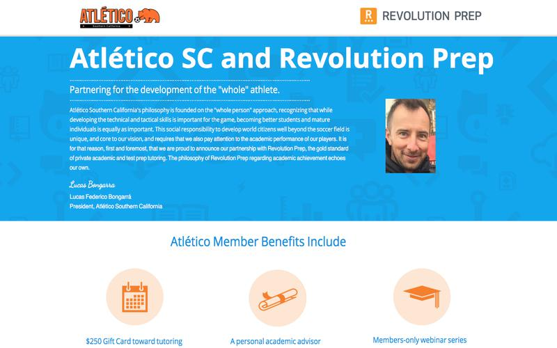 Atletico Southern California and Revolution Prep