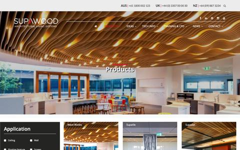 Screenshot of Products Page supawood.com.au - Products | Supawood - captured Oct. 1, 2018